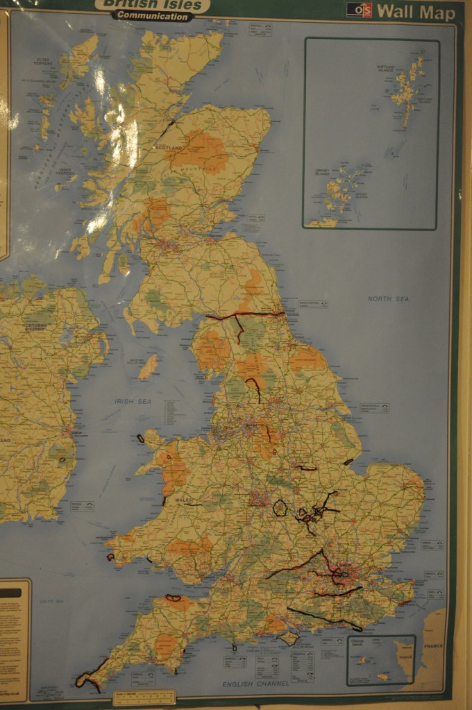 Ultra Touring Map of UK - Israel's places run Jan 2010 to June 2013