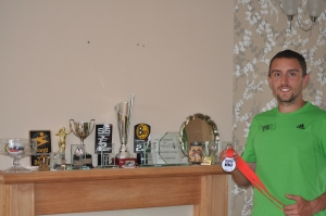 Charlie Sharpe and his trophies