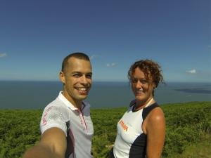 Israel and Emily on Coastal Path near LLangrannog, Wales