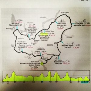 Map of Ultimate Trails 100km